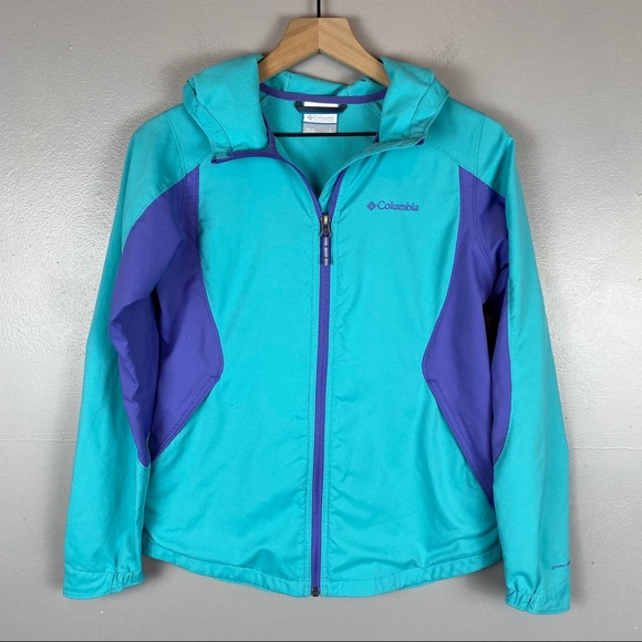 Columbia Other - Columbia Youth large hooded jacket teal purple
